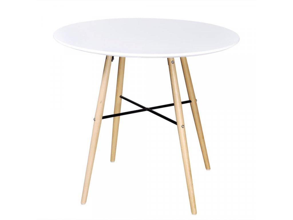 Jídelní stůl MDF kulatý bílý