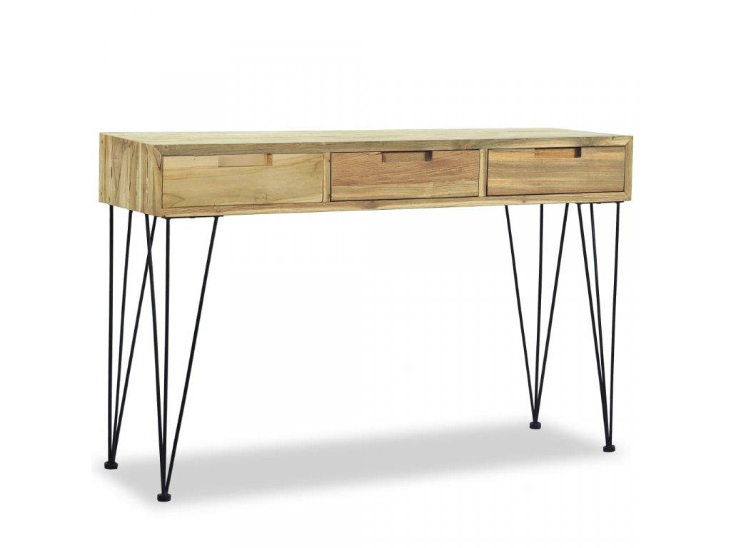 Odkládací stolek, masivní teak, 120x35x76 cm