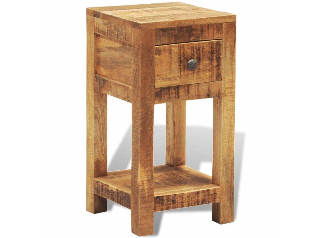 Noční /odkládací stolek z masivního dřeva, s 1 zásuvkou