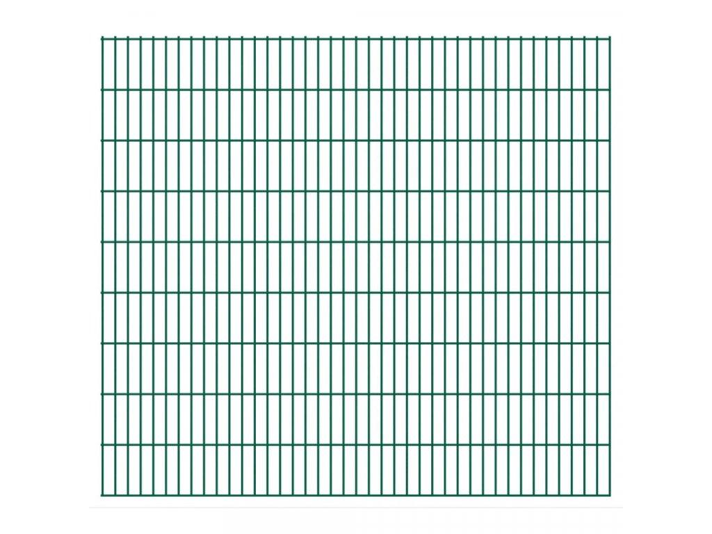 2D Zahradní plotové dílce 2,008 x 1,83 m 20 m (celková délka)