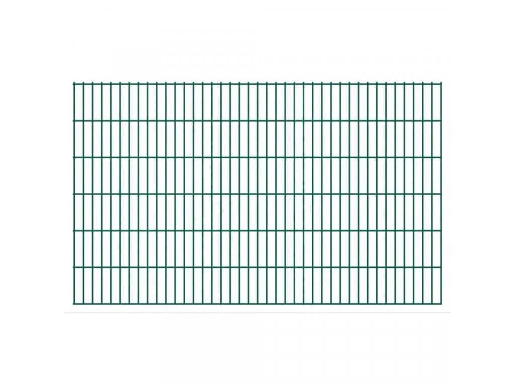 2D zahradní plotový dílec 2,008 x 1,23 mm zelený