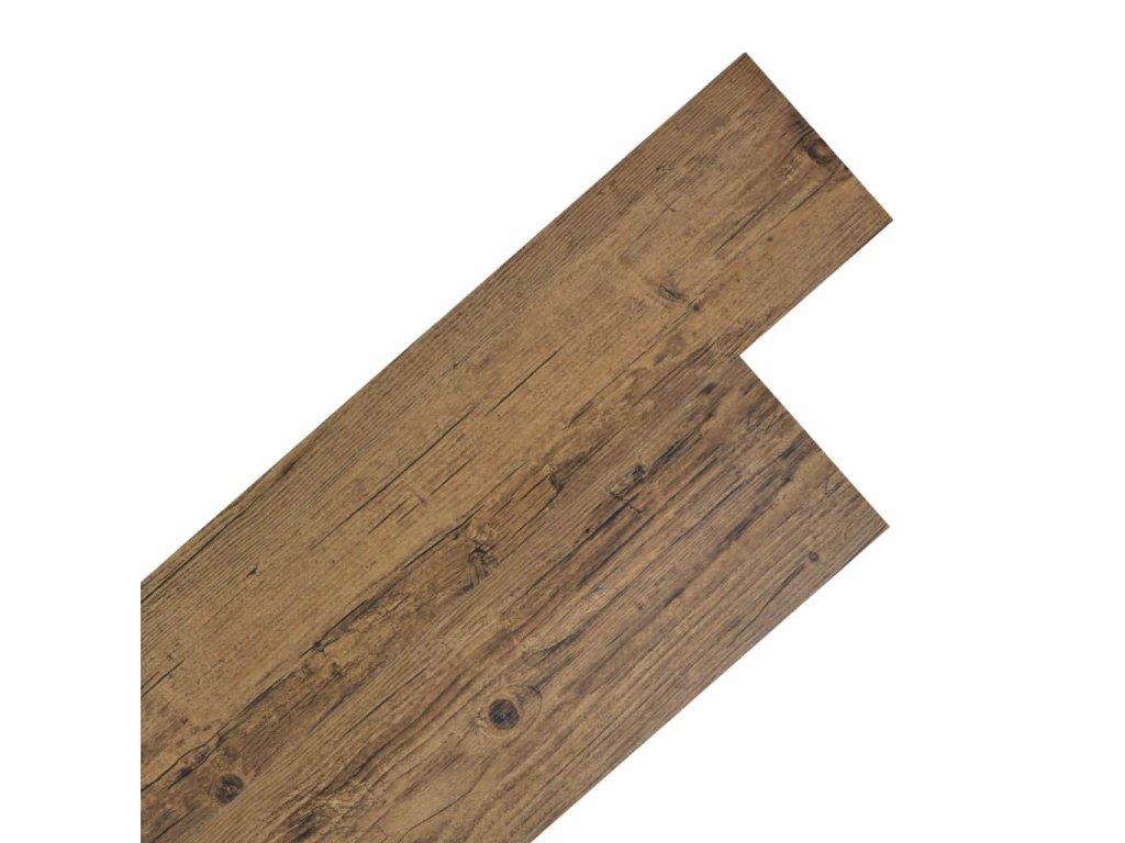 Samolepící podlahová krytina PVC 5,02 m² 2 mm ořechově hnědá