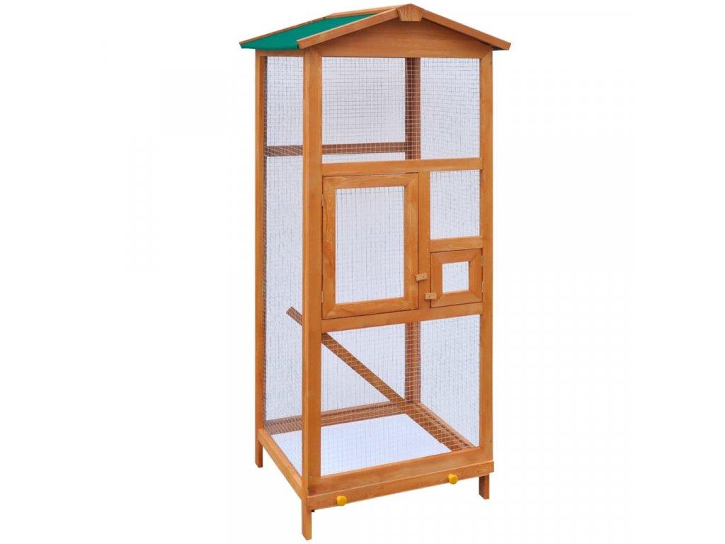 Ptačí klec dřevěná 65 x 63 x 165 cm