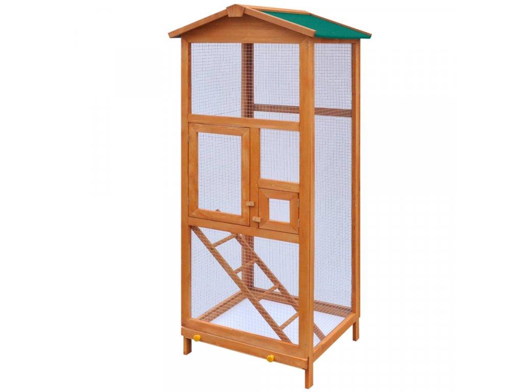 Ptačí klec dřevěná 65x63x165 cm