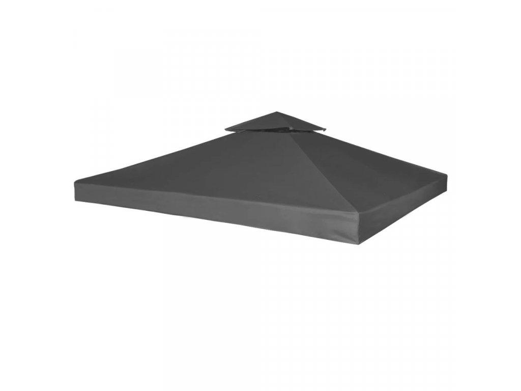 Nepromokavá náhradní střecha na altán 310g/m² tmavě šedá 3x3m