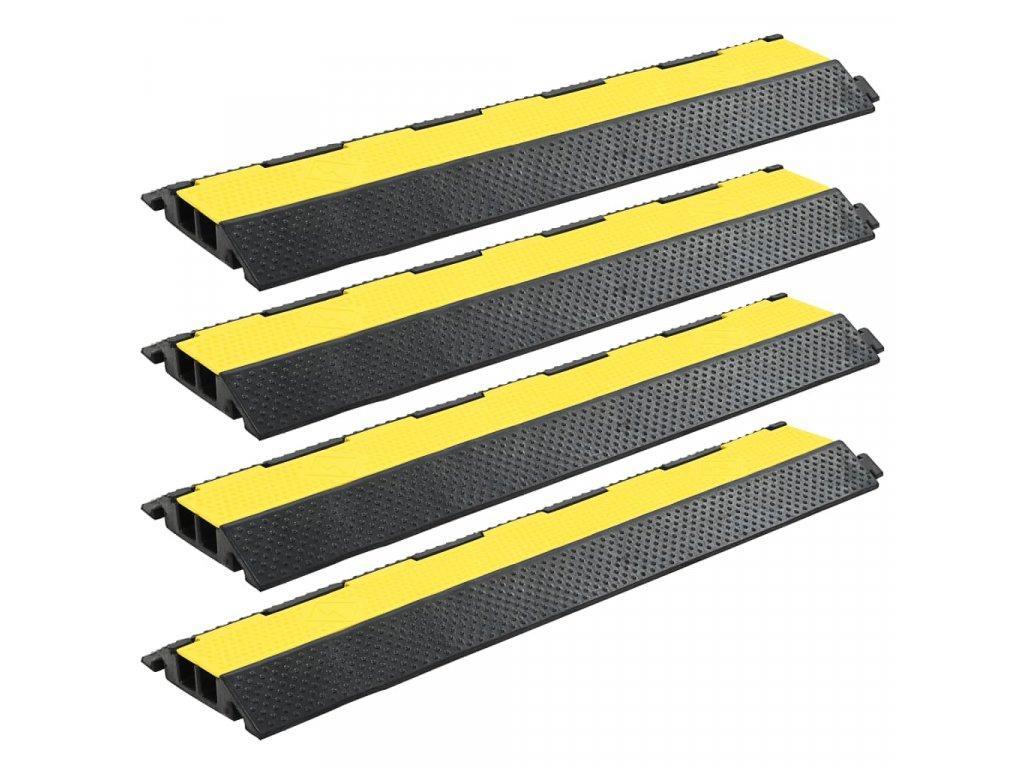 Kabelové ochranné mosty 4 ks 2 kanálky gumové 101,5 cm