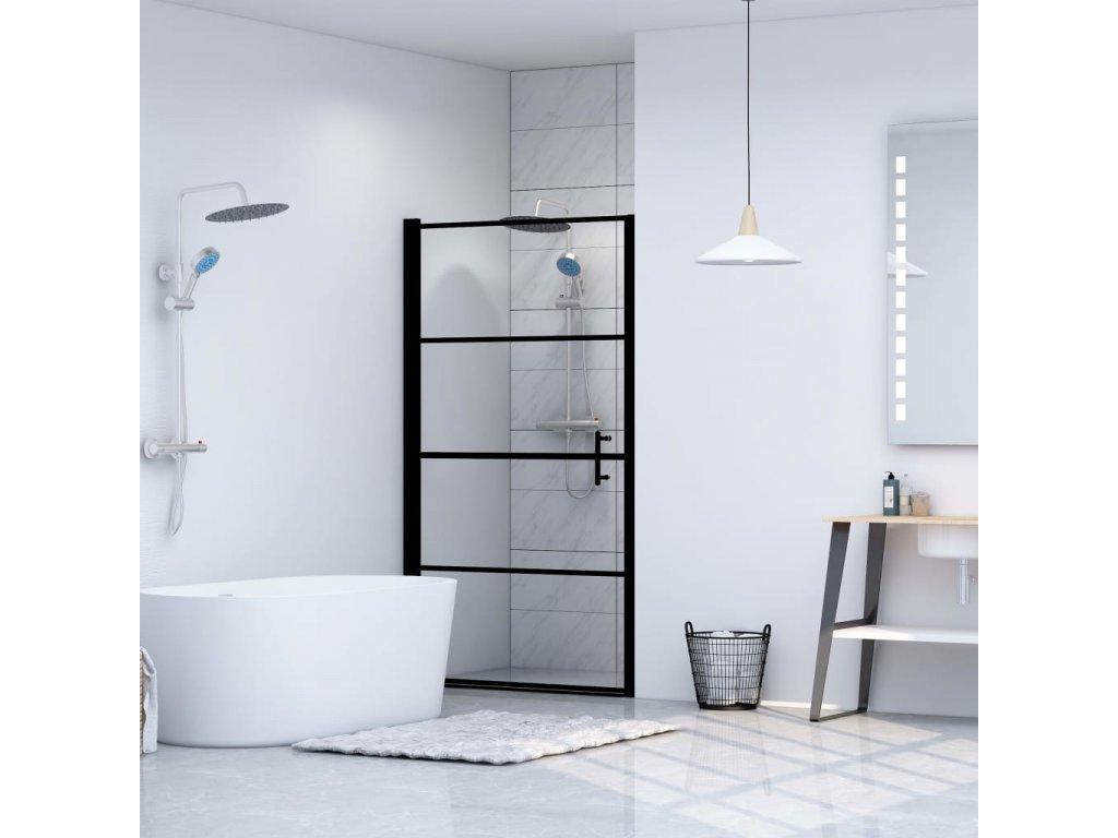 Sprchové dveře tvrzené sklo 81 x 195 cm černé
