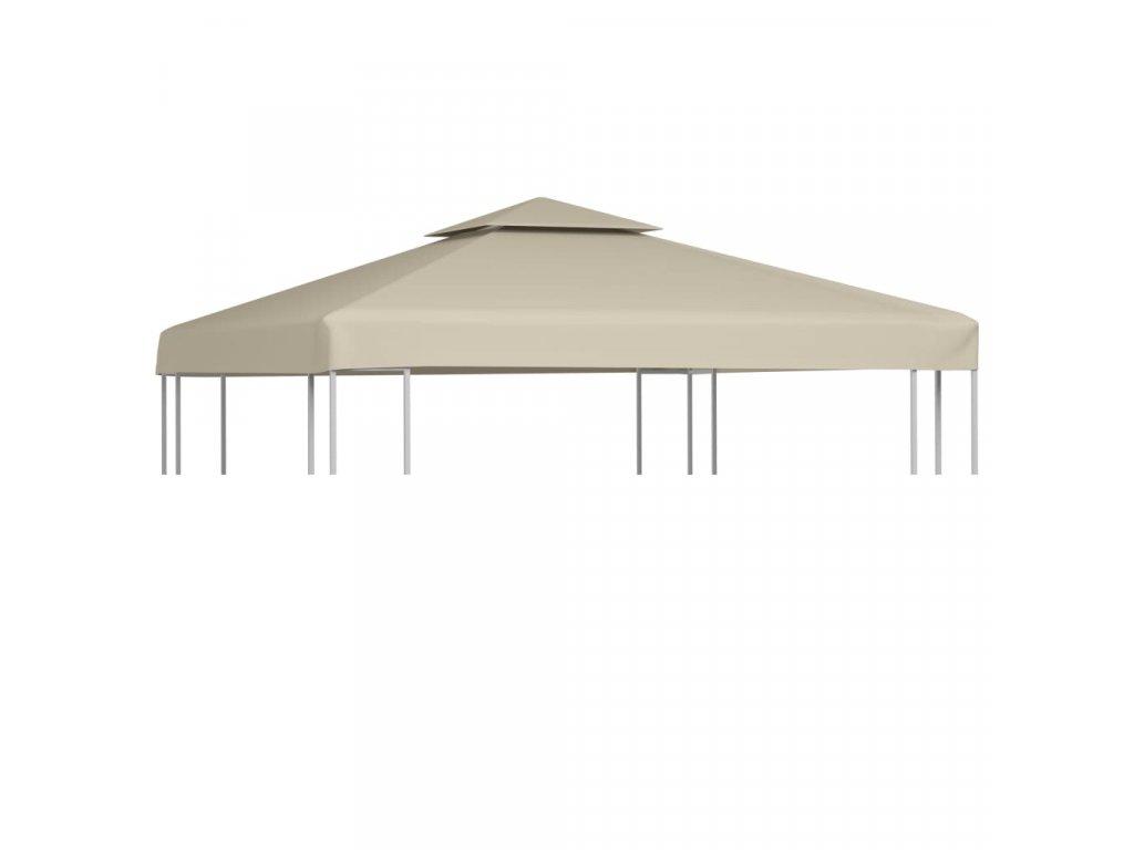 Nepromokavá náhradní střecha na altán 310g/m² béžová 3x3m