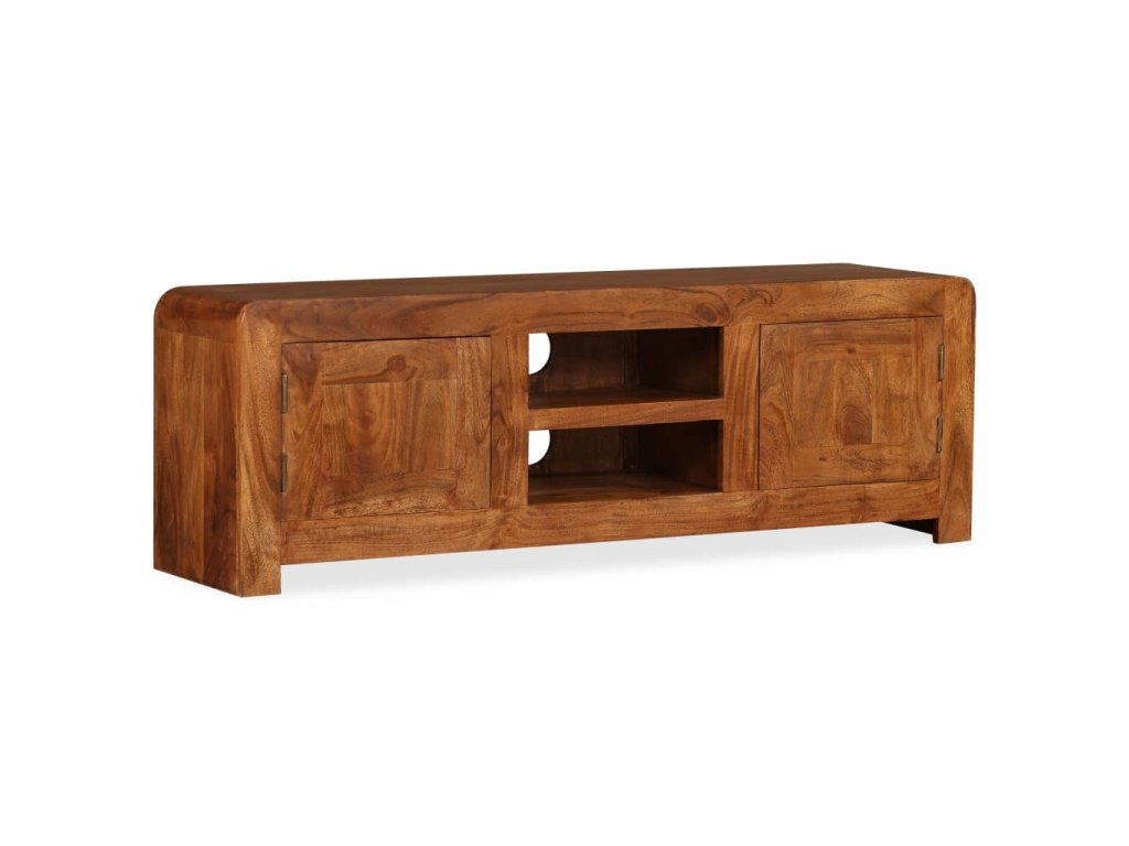TV stolek, dřevěný masiv a sheesham, 120x30x40 cm