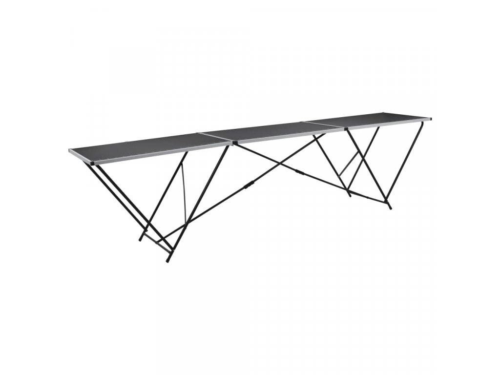 Skládací tapetovací stůl MDF a hliník 300 x 60 x 78 cm