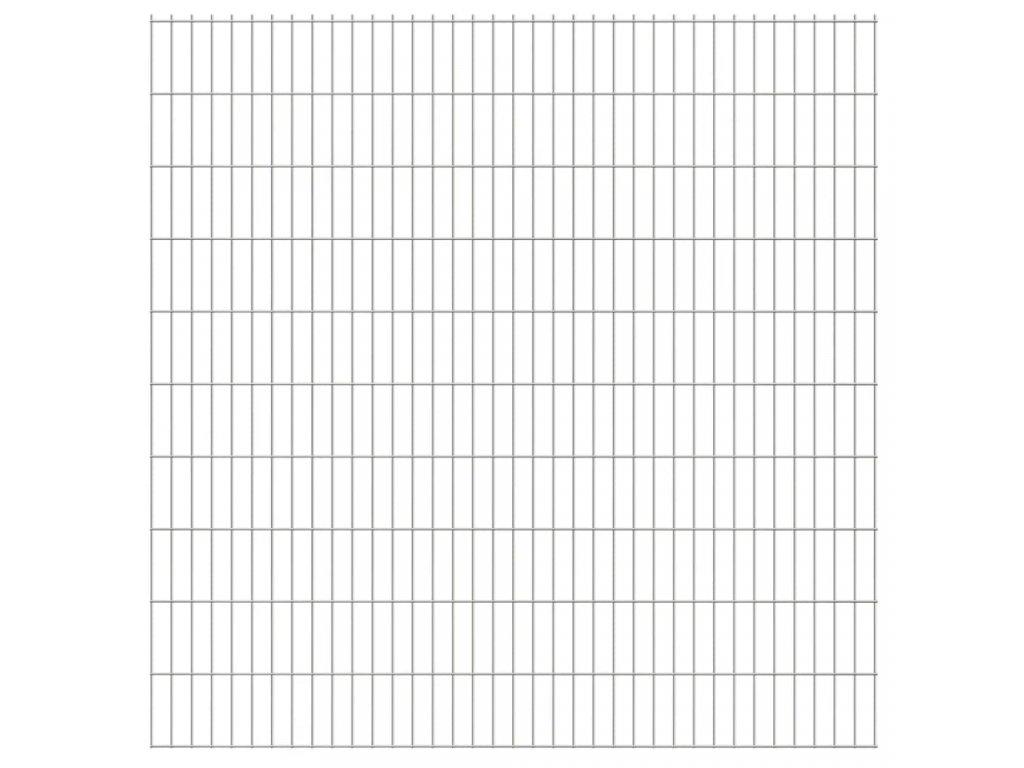 2D zahradní plotové dílce 2,008 x 2,03 m 34 m (celková délka)