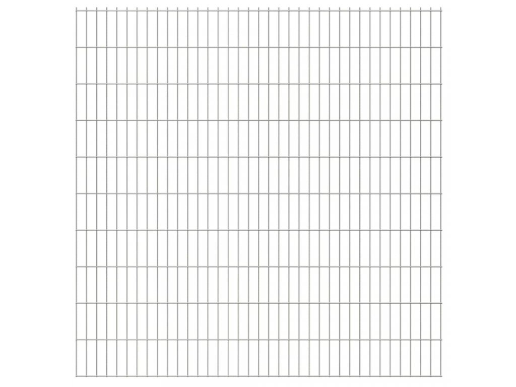 2D zahradní plotové dílce 2,008 x 2,03 m 44 m (celková délka)