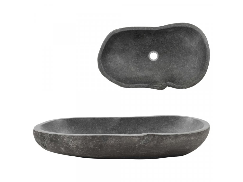 Umyvadlo říční kámen oválné 60–70 cm