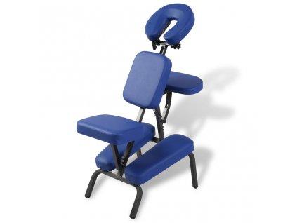 Skládací a přenosné masážní křeslo modré