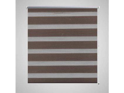 Roleta den a noc / Zebra / Twinroll 50x100 cm kávová