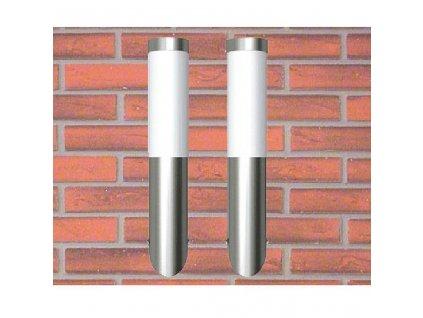 Nástěnné nerezové zahradní svítidlo - 2 ks - vodotěsné