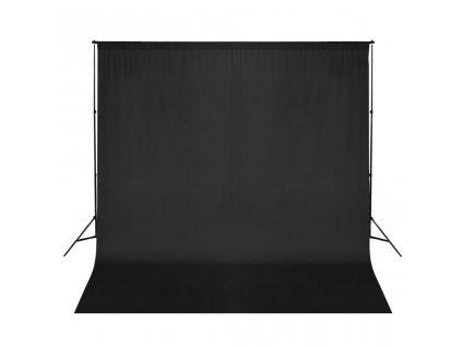 Systém podpěry a fotopozadí 600 x 300 cm černé