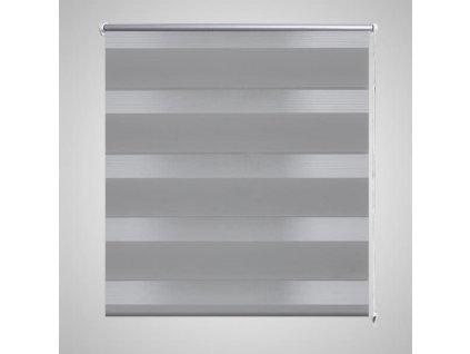 Roleta den a noc / Zebra / Twinroll 120x230 cm šedá
