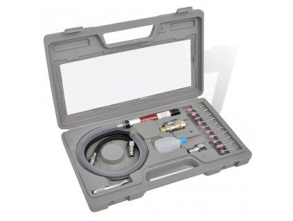 Pneumatická mikro bruska - set s 10 nástavci a příslušenstvím