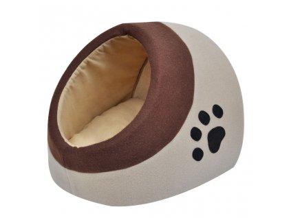 Teplý kočičí flísový pelíšek M