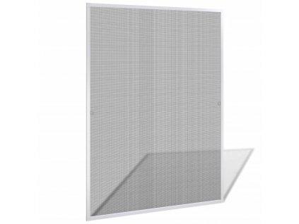 Bílá okenní síť proti hmyzu 120 x 140 cm
