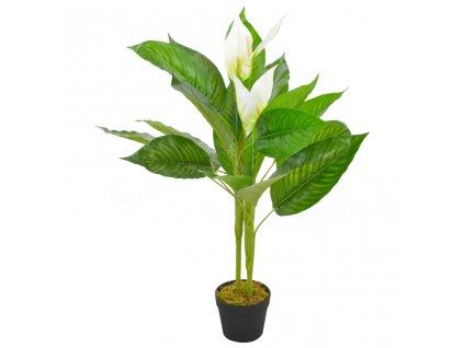 Umělá rostlina toulitka s květináčem bílá 90 cm
