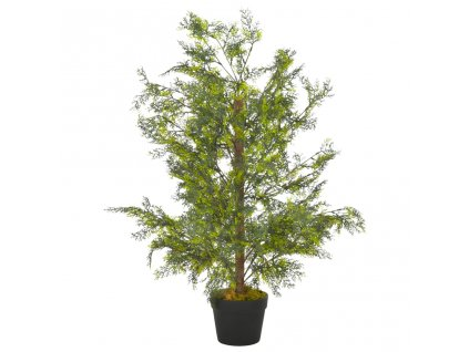 Umělá rostlina cypriš s květináčem zelená 90 cm