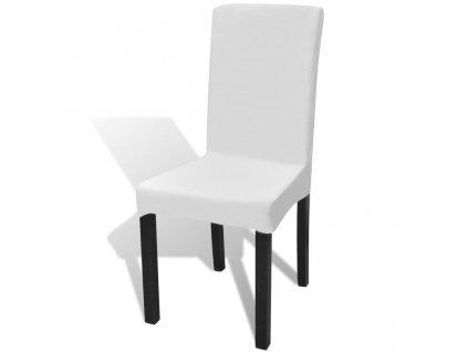 Bílý potah na židli natahovací, 6ks