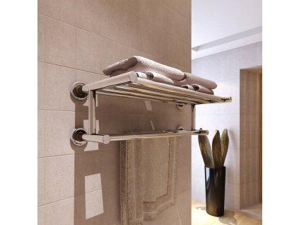 Nerezový věšák / sušák na ručníky se 6 tyčemi