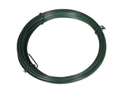 Plotový vyvazovací drát 25 m 1,4/2 mm ocelový zelený