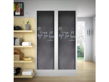 Nalepovací černá tabule na stěnu, 2 role 0,45 x 2 m + křídy