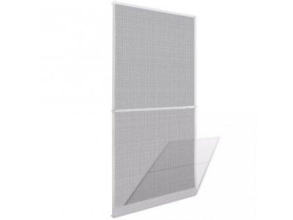 Dveřní síť proti hmyzu s panty bílý rám 100 x 215 cm