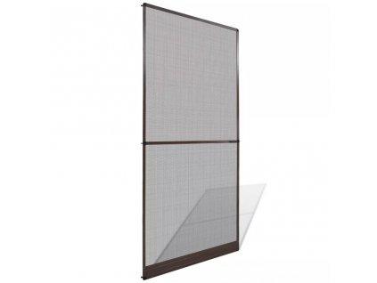 Dveřní síť proti hmyzu s panty hnědý rám 100 x 215 cm
