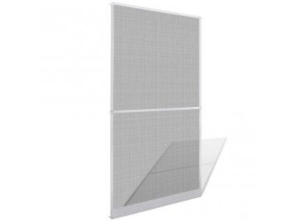Bílá síť proti hmyzu pro dveře 120 x 240 cm