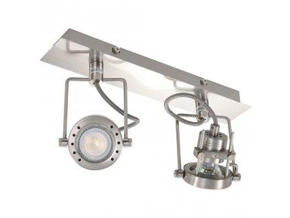 2směrné bodové světlo stříbrné GU10