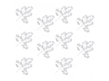 Umělé listy ginko biloba 10 ks bílé 65 cm