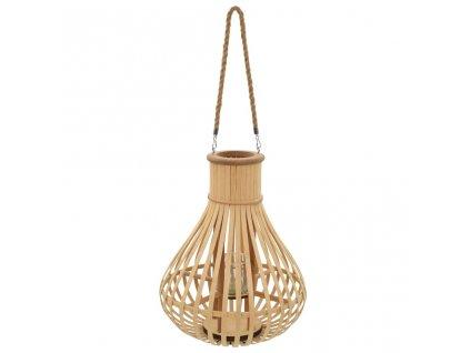 Závěsná lucerna na svíčku bambus přírodní