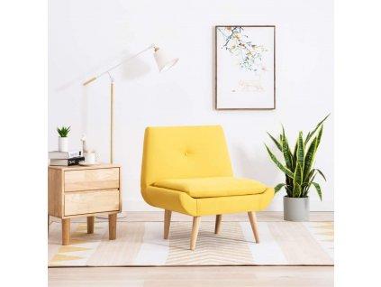 Křeslo žluté textil