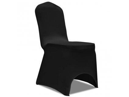 Strečové potahy na židle, 100 ks, černá