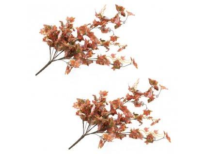 Umělé listy vinná réva 2 ks červené 90 cm