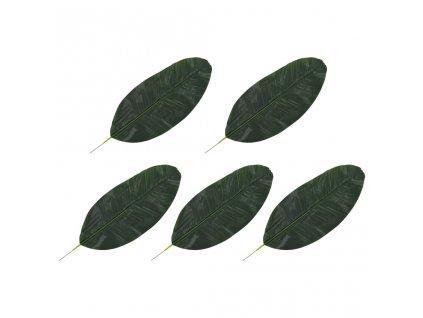 Umělé listy banánovník 5 ks zelené 50 cm