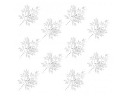 Umělé listy fíkus 10 ks stříbrné 65 cm