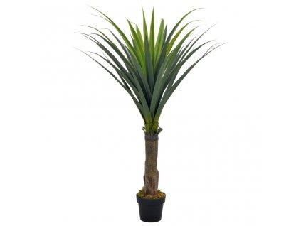 Umělá rostlina juka s květináčem zelená 145 cm