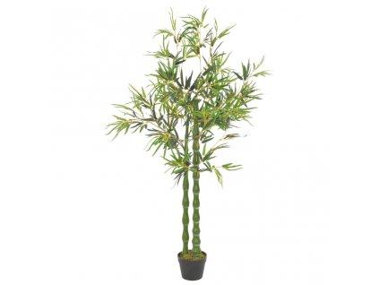 Umělá rostlina bambus s květináčem zelená 160 cm