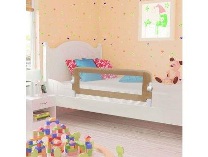 Dětská zábrana k postýlce taupe 102 x 42 cm polyester