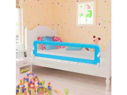 Dětská zábrana k postýlce modrá 120 x 42 cm polyester
