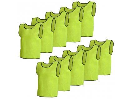 Rozlišovací sportovní / tréninková vesta junior - 10 Ks - žlutá