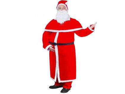 Santa Claus vánoční kostým s dlouhým kabátem, sada