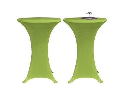 Strečový návlek na stůl 2 ks 80 cm zelený