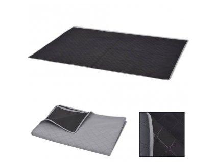 Pikniková deka šedo-černá 100x150 cm